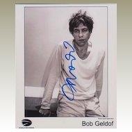 Bob Geldof Autograph: 8 x 10. CoA