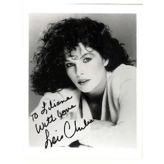 Lois Chiles: Autograph on b/w Photo. James Bond Actress