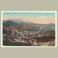 WW1: Military Government Cetinje Montenegro Postcard.