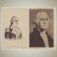 George Washington: Old Japanese Postcards