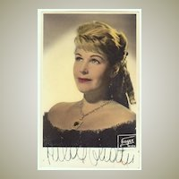 Hilde Guden Autograph: Ealy, hand signed Photo. CoA