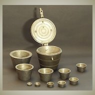 19. Century Measures. Scarce Antique Set from Europe.