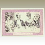 Caricature Postcard, Art Nouveau, 1912.