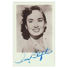 Ann Blyth Autograph. Hand signed Photo. CoA