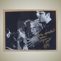 Maynard Ferguson Autograph. Large, hand signed Photo. CoA