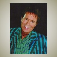 Cliff Richard Autograph: Signed Photo. CoA