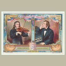 Virtuosi: 6 Litho Cards with Classical Musicians.