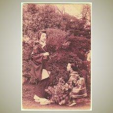 Old Japan: 2 Ladies. Vintage Postcard