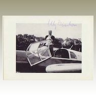 Elly Beinhorn Autograph. Authentic signed Photo of Historic Aviatrix. CoA