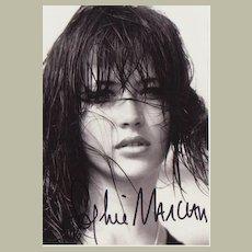 Sophie Marceau Autograph. Hand signed Photo. CoA