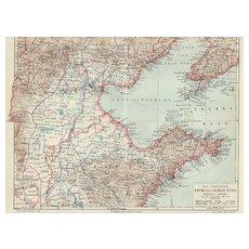 Old China Map: Tschi-Li and Shan-Tong. 1900