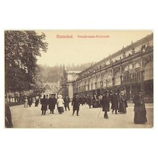 Greetings from Marienbad. Vintage postcard of Historic Place.