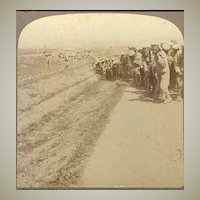 Russo – Japanese War: Stereo Photo with Soldiers. 1905
