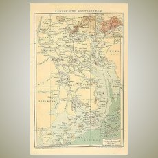 Old China: Canton and Canton-River. Antique Map