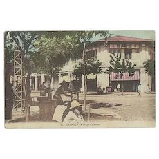 Indochina Saigon old Tinted Postcard with Chinese Cookshop