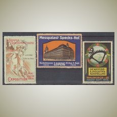 3 Art Nouveau Vignettes related to Exhibitions. 1913-14