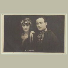 Alexandroff. Vintage Photo of famous Russian Actors.