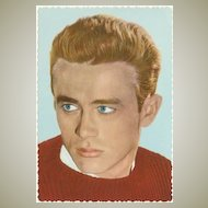 James Dean Photo Vintage Postcard from the 1960s.