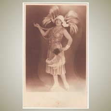 2 vintage Photos of Actresses in Art Deco Costumes.