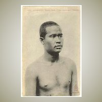 Old Cambodia: Man from Phnom Penh. Vintage Postcard, ca. 1910