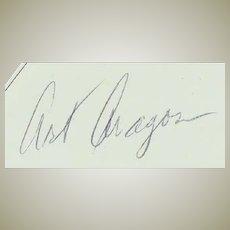 Art Aragon: Hand-signed Real-Photo. 10 x 8. CoA