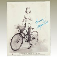 Virginia Mayo Autograph on large Photo. CoA
