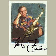 Klaus Doldinger, Jazz Musician Autograph. CoA