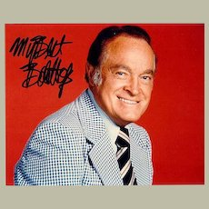 Bob Hope Autograph. Large signed Photo. CoA