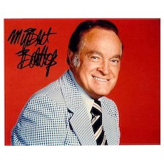Bob Hope Autograph. Large signed Photo. CoA
