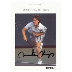 Martina Hingis Tennis Player Autograph. CoA