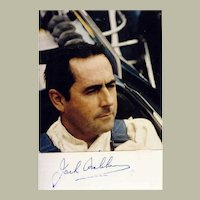 Jack Brabham Autograph. Signed Photo. CoA