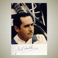 Jack Brabham Autograph. Signed Photo. CoA