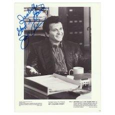 Joe Pesci Autograph and Dedication. 8 x 10 inches. CoA