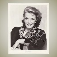 Jane Russell Autograph on large b/w Photo. CoA