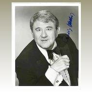 Buddy Hacket Autograph: 8 x 10, CoA