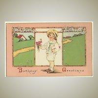 Birthday Greetings: Vintage Postcard from 1926