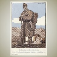 W.W.I.: Litho Promotion Postcard for Disabled Ex-Service Men. Artist signed.