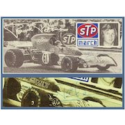 Ronnie Petersen hand signed Print. CoA