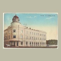 Poland, Tarnow: Vintage Postcard of Post Office. 1914