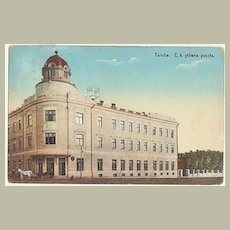 Poland, Tarnow: Vintage Postcard of Post Office. 1914