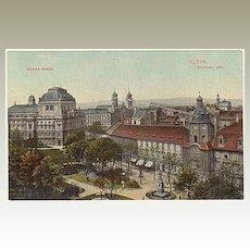 The Synagogue in Plzen. Vintage Postcard 1910.