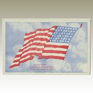 US Vintage Postcard. Flag. Preparedness