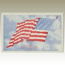 US Vintage Postcard. Flag. Preparedness
