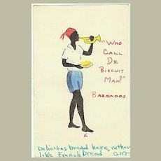 "Tinted Postcard from Barbados: ""Who call the Biscuit Man""?"