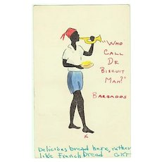"""Tinted Postcard from Barbados: """"Who call the Biscuit Man""""?"""