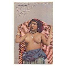 Arab Dancer: Vintage Postcard from 1917