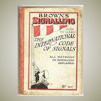 1944 Edition of  Brown's signalling. Scarce. Book By W. K. Stewart
