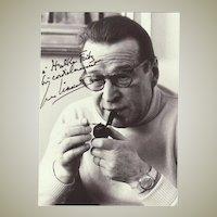 George Simenon Autograph + Authentic Letter. 1978
