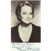Olivia de Havilland Autograph. Signed Photo + Extra