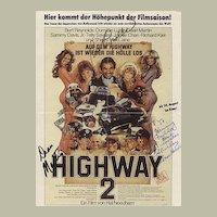 Dean Martin Autograph along with Burt Reynolds and Shirley McLaine. CoA